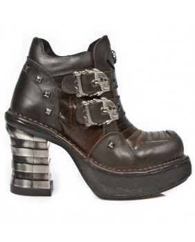 Brown leather ankle boots New Rock M.8330-C2