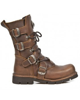 Brown leather boot New Rock M.1473-C22