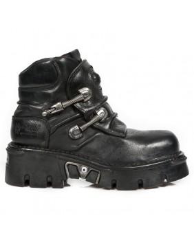 Chaussure noire en cuir New Rock M.624-C2