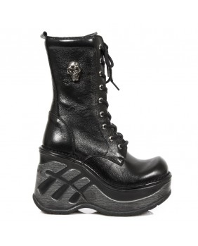 Botte noire en cuir New Rock M.SP9841-C1