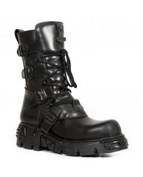 Black leather boot New Rock M.1073-C1