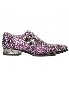 Chaussure lilas en cuir New Rock M.NW2288-S13