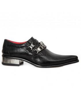 Chaussure noire en cuir New Rock M.2290-C7