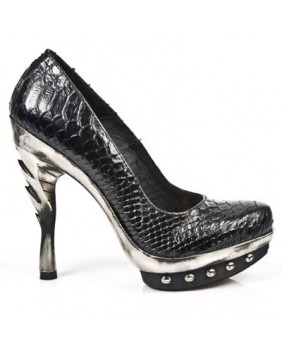 Escarpin noir en cuir New Rock M.PUNK011-C13