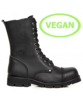 Rangers noire en cuir Vegan New Rock M.NEWMILI10-VC1