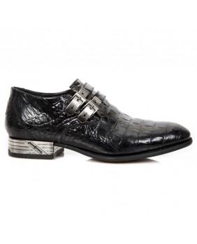 Sapato negra en couro New Rock M.VIP96002-C16
