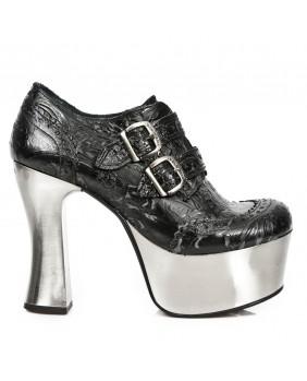 Chaussure noire en cuir New Rock M.DK020-S13