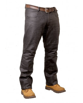 Pantalon homme cuir de buffle Skipper marron