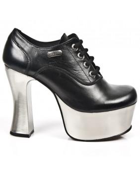 Zapatos negra en cuero New Rock M.DK004-C11
