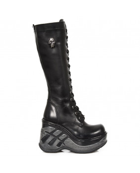Botte noire en cuir New Rock M.SP9811-S1