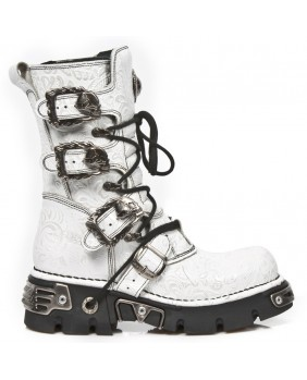 White leather boot New Rock M.391-C7