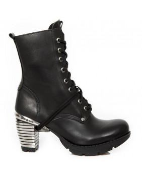 Bottine noire en cuir New Rock M-TR001X-S3