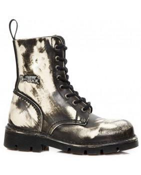 Rangers noire en cuir New Rock M-NEWMILI084-C58