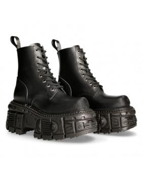 Black leather boot New Rock M-MILI084N-C5