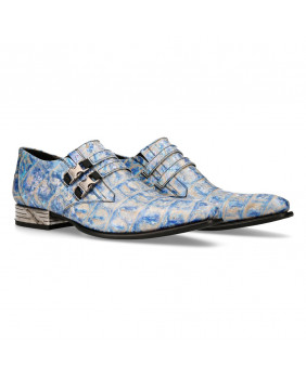Blue leather street shoe New Rock M-NW2288-S62