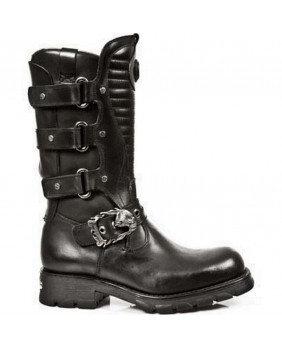 Black leather boot New Rock M.7604-S1