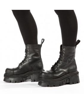 Black leather rangers New Rock M-NEWMILI083-C22