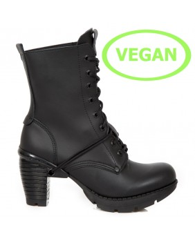 Black Vegan leather ankle boots New Rock M.TR001X-V1