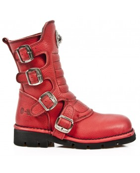 Red leather boot New Rock M.1471-C60