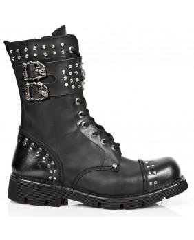 Black leather rangers New Rock M.NEWMILI102-C1